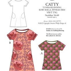catty, klänning, sy, mönster